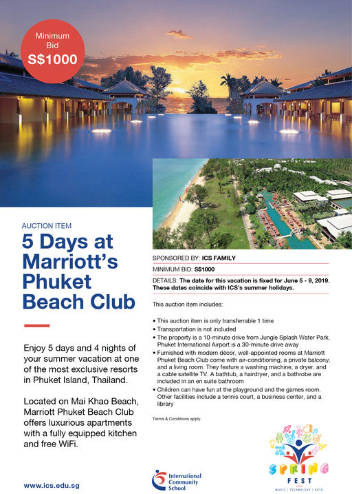 5 Days at Marriot's Phuket Beach Club