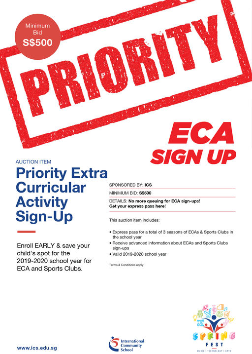Priority Extra  Curricular  Activity  Sign-Up