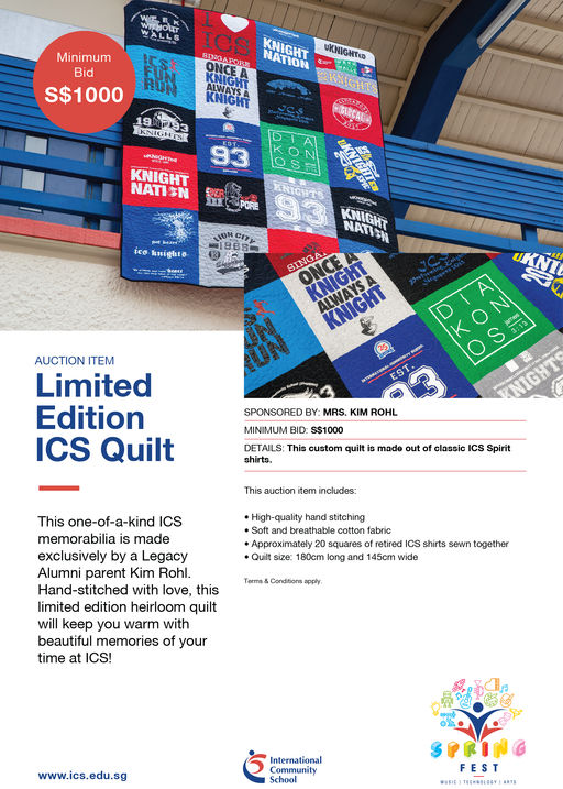 Limited Edition ICS Quilt