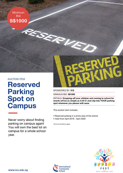 Reserved Parking Spot on Campus