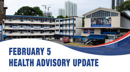 February 5, Health Advisory Update