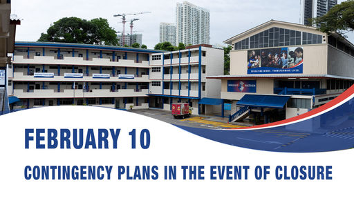 February 10, Contingency plans in the event of closure