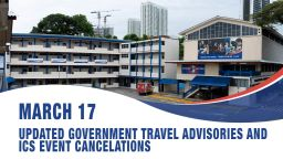 March 17, Updated Singapore government travel advisories and ICS event cancellations