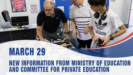 March 29, New information from the Ministry of Education and Committee for Private Education