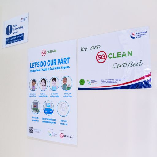 "International Community School (Singapore) is ""SG Clean"" Certified"