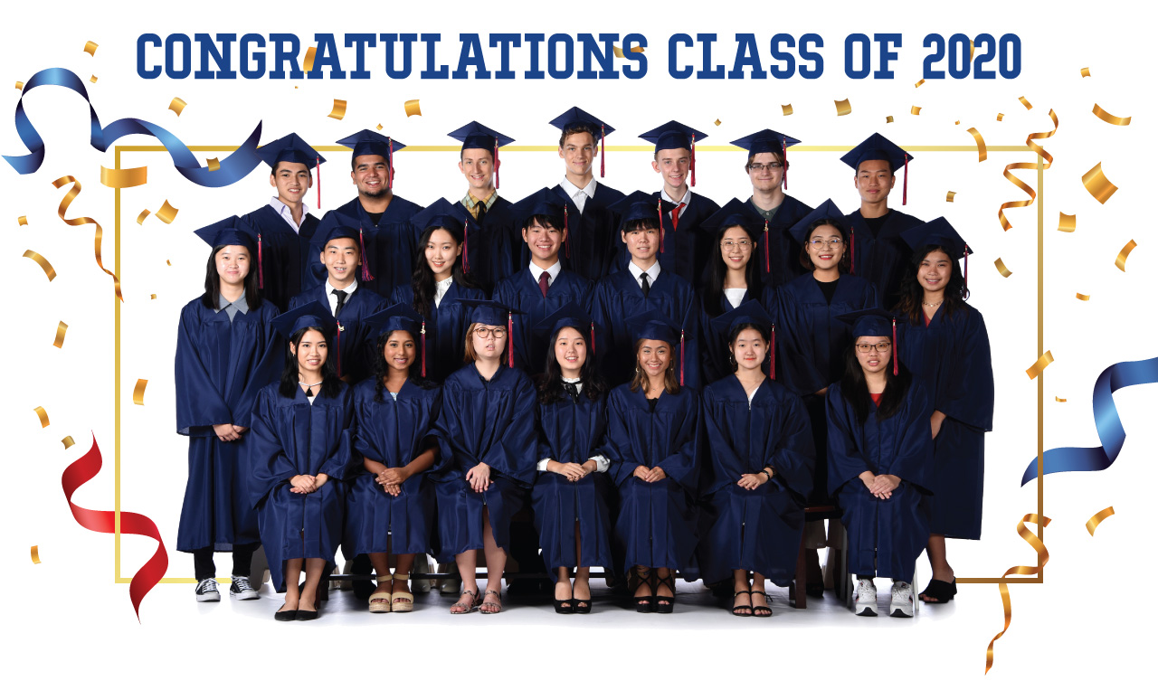 ICS Singapore class of 2020 formal photo in gowns