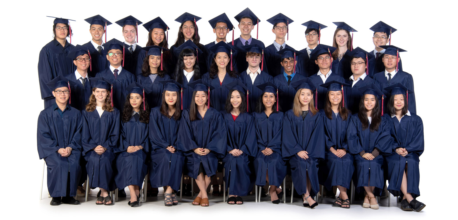 ICS Singapore Class of 2019 formal picture in gown