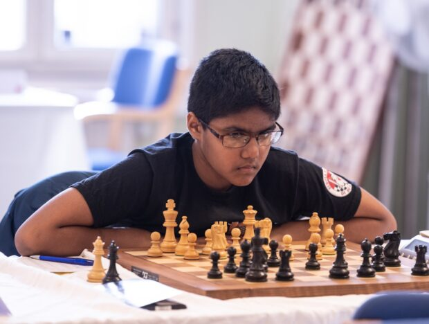 siddharth at a swedish chess tournament